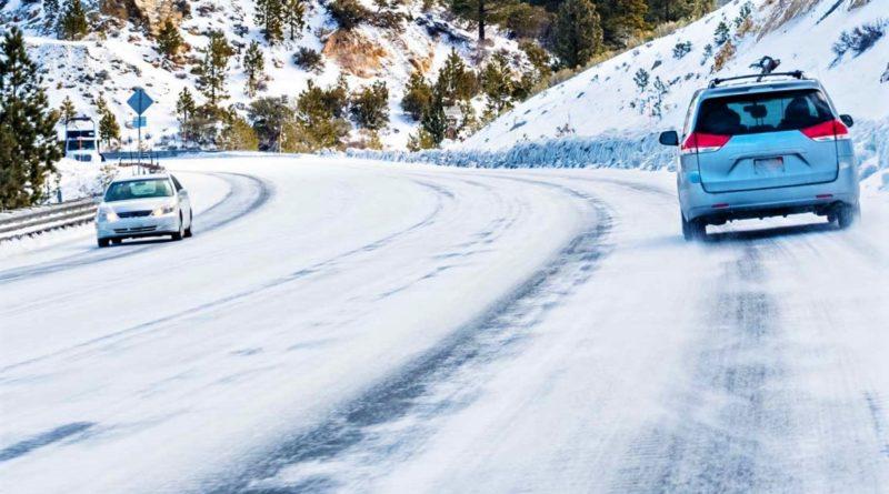 движение авто зимой