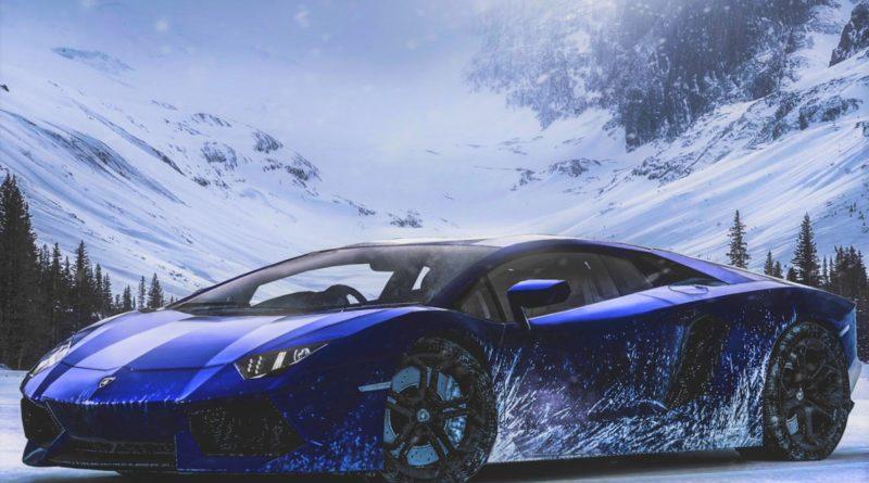 движение автомобиля в горах